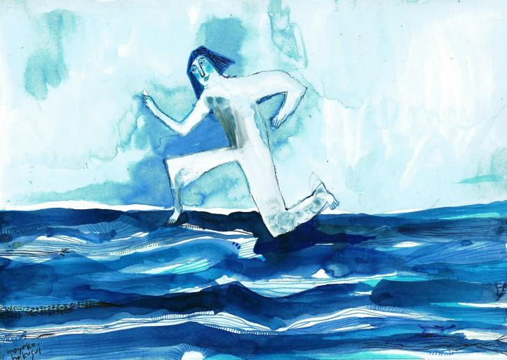 海を走る人4