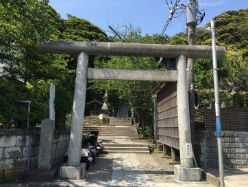 【鎌倉市長谷にある甘縄神明神社。鎌倉最古の神社と言われている。ちょうど鎌倉大仏の真南に位置し、この近辺に禅尼の邸宅もあったらしい。】