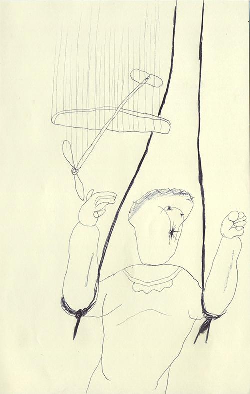 おもちゃの飛行機が緩やかに落ちていく。僕は肘の関節のあたりをゴムで縛ってどっかで引っ張ってもらっているから落ちる事はないんだ。僕も緩やかに落ちたい