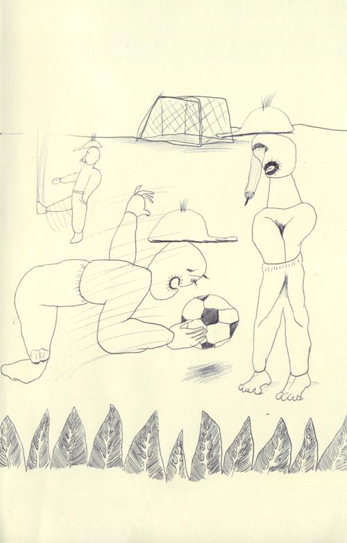僕たちは精一杯サッカーをなったけれど、やり方が全然間違っていたので、ほとんどつまらなかったんだよ