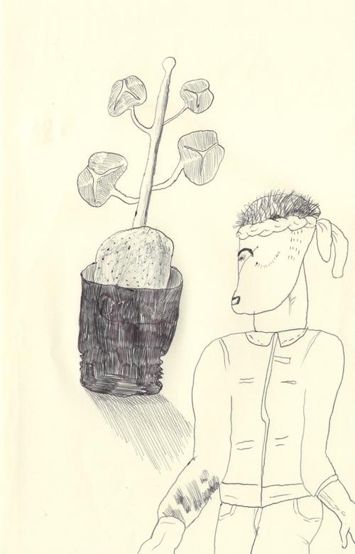 安いビニールの鉢植えに