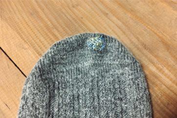 一番最近縫ったウールの靴下。今ではダーニングの技法でうまく馴染ませられる。