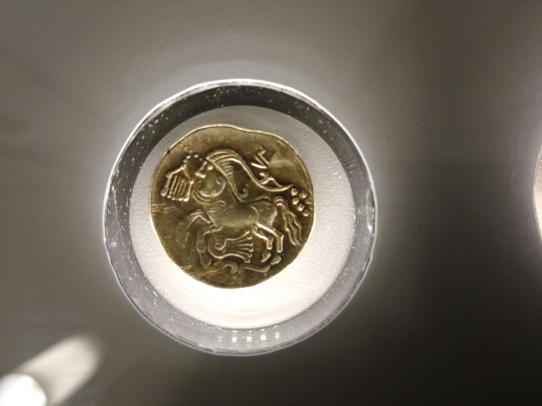 ケルトの貨幣。ベルギー中央銀行博物館にて。