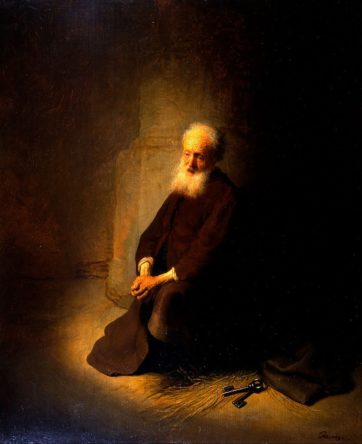 「めっちゃしんどい」 [The Apostle Peter Kneeling]Rembrandt(1631)