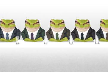 無表情で感情豊かな蛙を好んで描いた時期があった。彼らの心の内は誰にも分からない。