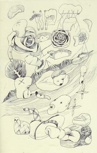 想像力が死んだので、なんかやわらかそうなものとか、花とか山とかしか思い出せない