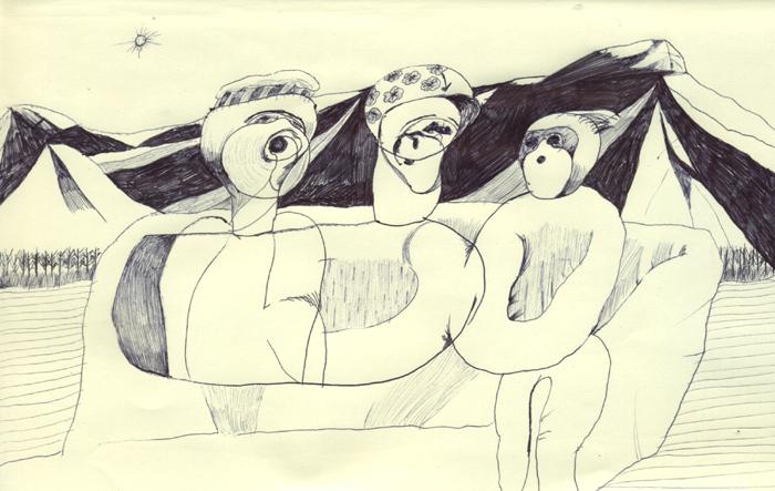 山の麓に3人の仙人がいるけど何も教えてくれないし何も知らない