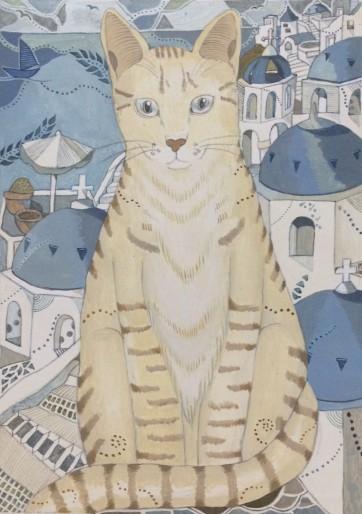 サントリーニ猫