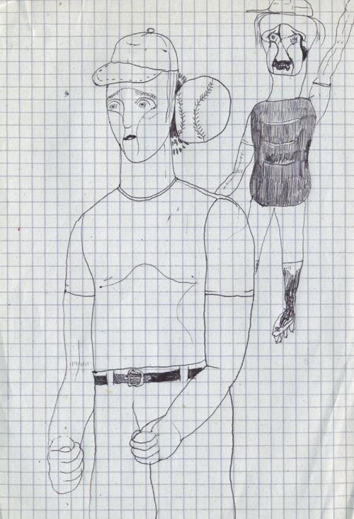 野球選手を描いているけどやっぱりうまく描けない