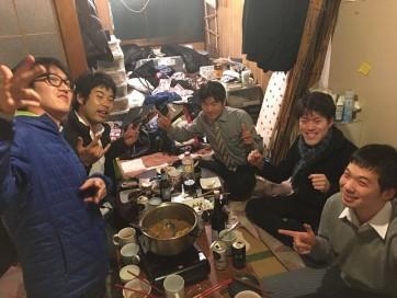 大学の先輩たちとクリスマス忘年会