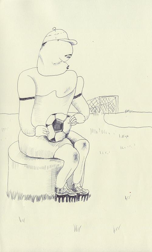 サッカーボールを持っているしスパイクも履いている。でもなんでか僕はサッカーをしない。いつも椅子に座ってしまうんだよ。サッカーをするのは、すごく大変な事なん
