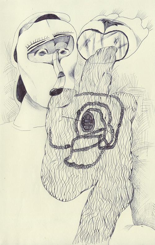 女の人の顔