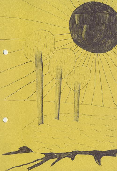 嫌な太陽と嫌な池と嫌な池に生える嫌な木を、僕は好き好んで絵に描いたんだ。おかしいね