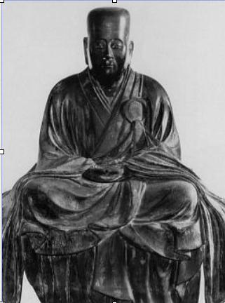 【栄西像はいくつか存在しているのですが、どの像もこのように面長で角張っているのが特徴です】