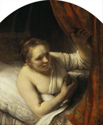 「これ以上育ったら……死」 [A Woman in Bed]Rembrandt(1646)