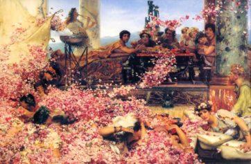 著作権保護期間が終了したパブリックドメインの絵画で心象風景をお届けします。 [The roses of Heliogabalus-1]Lawrence Alma-Tadema(1888)