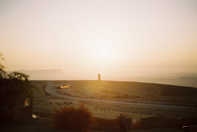 砂漠の夜は火、つながれない犬
