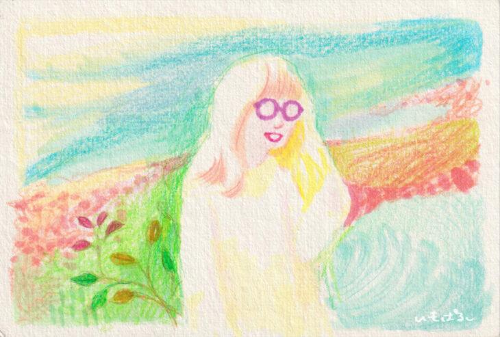 書庫から、神原由佳さんと早間果実さん